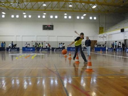 Desporto escolar com patinagem